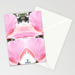 Pink Petal Shapes Stationery Cards