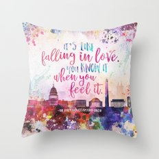 The Lovely Reckless - Like Falling in Love Throw Pillow