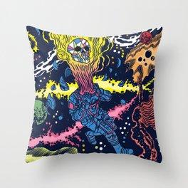 Boundless three-dimensional extent Throw Pillow