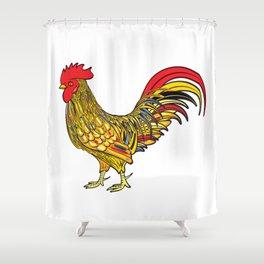 Festive cockerel Shower Curtain