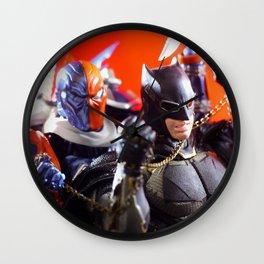 Bat man and Death stroke Wall Clock