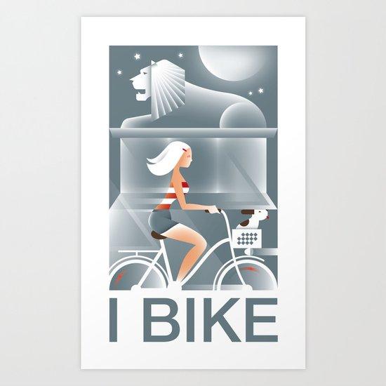 I Bike Art Print