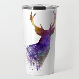 Male Deer 03 in watercolor Travel Mug