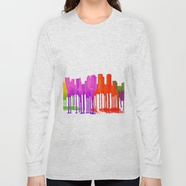 Tampa, Florida Skyline - Puddles Long Sleeve T-shirt