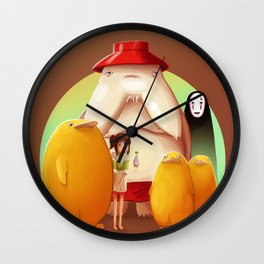 Studio Ghibli - Radish Spirit Wall Clock