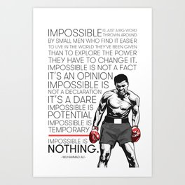 Ali 'The Champ' Boxing Art Print