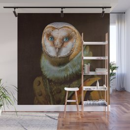 Animals - Funny Owl Painting Wall Mural