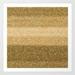 Glitter Glittery Copper Bronze Gold Art Print