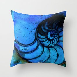 Nautilus Shell No. 987 by Kathy Morton Stanion Throw Pillow