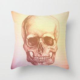 Faded Skull Throw Pillow