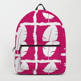 White feathers Backpack