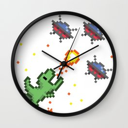 Pixel Dino Wall Clock