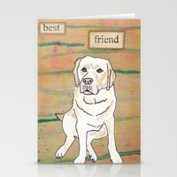 best friend Stationery Cards featuring Best Friend  by Tammy Kushnir