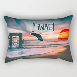 Swag Whale Rectangular Pillow