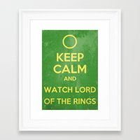 lord of the rings Framed Art Prints featuring Lord of the Rings by MeMRB