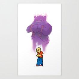 Scared Boy Art Print