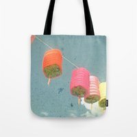 lanterns Tote Bags featuring Lanterns by Cassia Beck