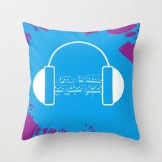 The Music Brain Throw Pillow
