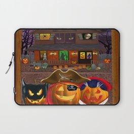 Halloween Pumpkin Masquerade Laptop Sleeve