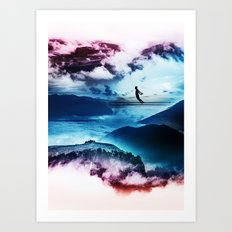 End of isolation Art Print