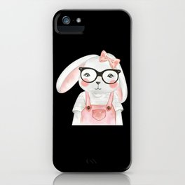 Beautiful Animal With Glasses Design iPhone Case