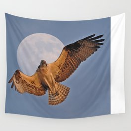 Osprey Moon Wall Tapestry