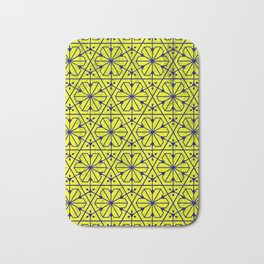 V26 Moroccan Pattern Design Yellow Carpet Moroccan Texture. Bath Mat