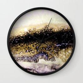 Golden Resin Rivers Wall Clock