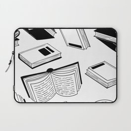 BOOK OBSESSION MONOCHROME PATTERN Laptop Sleeve