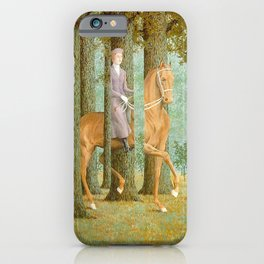 Rene Magritte / The blank check iPhone Case