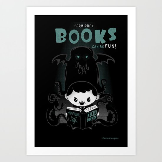 Forbidden books can be fun! Art Print