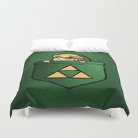 the legend of zelda Duvet Covers featuring THE LEGEND OF ZELDA  by BeautyArtGalery
