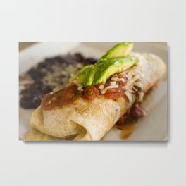 Close-up of a breakfast burrito Metal Print