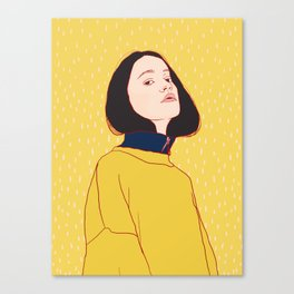 Yellow Sigrid Canvas Print