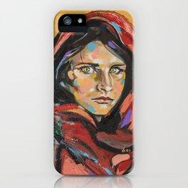 Afghan Girl (Sharbat Gula) iPhone Case