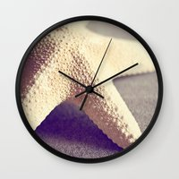 starfish Wall Clocks featuring Starfish by Dena Brender Photography