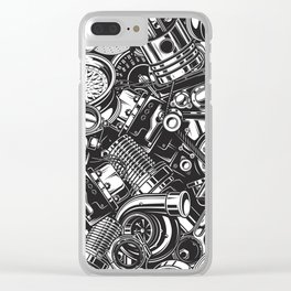 Automobile car parts pattern Clear iPhone Case