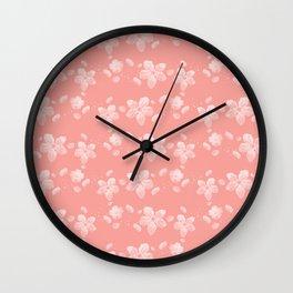 Sakura Pattern Wall Clock