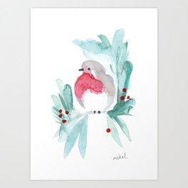 Red Robin 1 Art Print