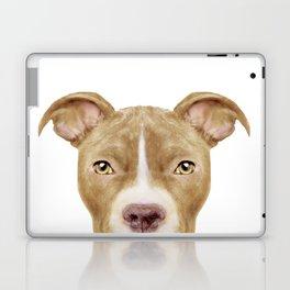 Pit Bull light Brown 2,Dog illustration original painting print Laptop & iPad Skin