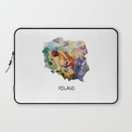 Map of Poland watercolor Laptop Sleeve