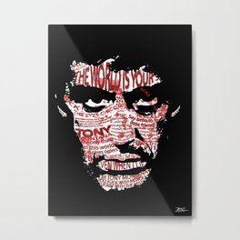 The eyes chico, they never lie.. Metal Print