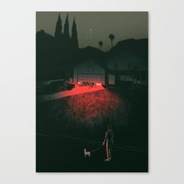 In the Garage Canvas Print
