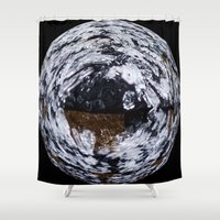 ice Shower Curtains featuring Ice by Rose Etiennette