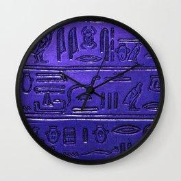 Hieroglyphs 2014-1028 Wall Clock