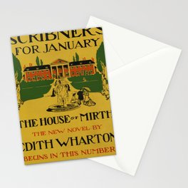 Affiche scribners for january   the house of mirth. 1905  Stationery Cards