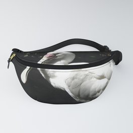 Silky White Fanny Pack