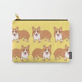 Happy Corgi Pattern Carry-All Pouch