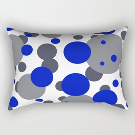Bubbles blue grey- white design Rectangular Pillow