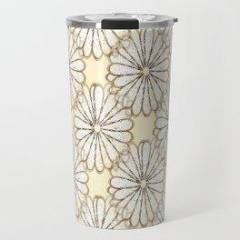 Cream Daisy Petals  Travel Mug